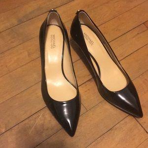 Michael Kors Flex Patent Leather Kitten Heel Pumps